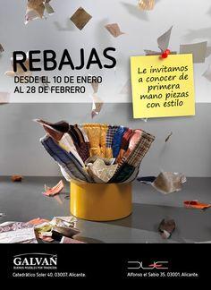 Email for Muebles Galvañ. Rebajas 2011.