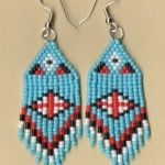 Beaded Blackfoot Turquoise Earrings