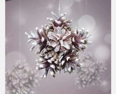 Pine Cone Star Christmas Tree Ornament http://www.woodz.co/diy-christmas-tree-ornaments-using-only-natural-materials/