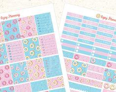 Donuts Printable Planner Stickers Headers planner by EnjoyPlanning