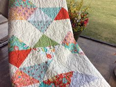 Austin...gorgeous fabrics from Riley Blake Designs! Queen size quilt for sale!