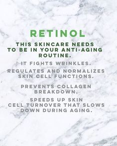 Retinol is a very big ingredient in skincare. Want to age backwards? Fine lines? Laugh lines? Our anti aging and anti wrinkle skin care routines and Anti Aging Cream, Anti Aging Skin Care, Skin Tips, Skin Care Tips, Organic Skin Care, Natural Skin Care, Natural Beauty, Organic Baby, Aging Backwards