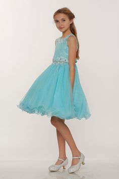 c0c09fffb2101 Girls Dress Style 5010 - Aqua SALE Size 6 (1 piece left)