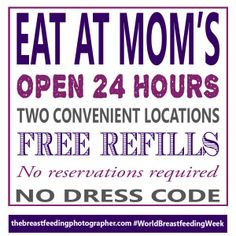 Eat At Mom's Breastfeeding Support Poster for World breastfeeding week