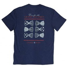 Dress for the Grand Old Party: Navy Short Sleeve