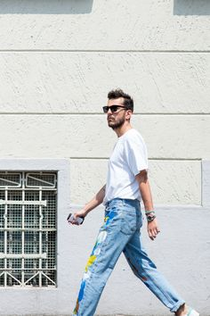 """1000yardstyle: """" A Painters Touch- seen more than a few stray brushstrokes this year, from Pitti, to Paris and even L.A """""""