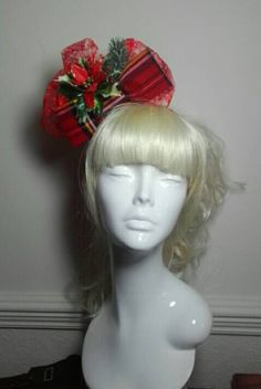 Check out this item in my Etsy shop https://www.etsy.com/uk/listing/477257770/christmas-fascinator-headband-with