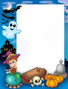 Free download - Halloween frame for easy poster design.