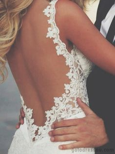 vintage lace wedding dresses backless - Google Search