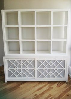 DIY Inspiration: expedit shelf on credenza? #diy