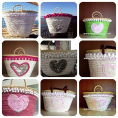 #capazos colección Corazón www.rosanamolto.com#capazos #decorados #playa #denia