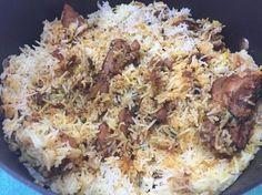 Biryani Rice Recipe, Lamb Biryani Recipes, Briyani Recipe, Easy Rice Recipes, Veg Recipes, Vegetarian Recipes, Chicken Recipes, Paneer Biryani, Biryani Chicken