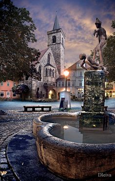 fountain in Erfurt (Germany)