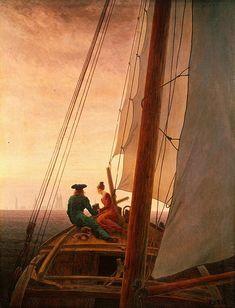 Caspar David Friedrich. Le Bateau à voile. 1818-1819. Oil on canvas. State Hermitage Museum. St. Petersburg, Russia.