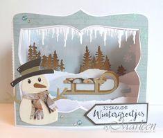 Vandaag een winterse boxkaart met het sneeuwmannetje... want die vind ik toch wel echt heeeel leuk! Jullie zullen hem hier de komende tijd ...