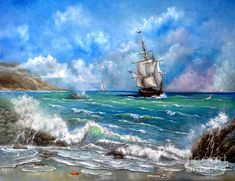 Ship Painting - Odessa by Patrice Torrillo