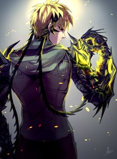 One Punch man - Genos - anime art Anime One Punch Man, One Punch Man 2, Saitama One Punch Man, Bd Comics, Anime Comics, Super Anime, Image Manga, Film D'animation, Male Cosplay