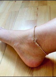 Kaufe meinen Artikel bei #Kleiderkreisel http://www.kleiderkreisel.de/accessoires/sonstiges/111088104-fusskette-in-gold-fusskette-nagelneue-fusskette-in-gold