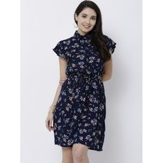 f4f32b920 Buy Tokyo Talkies Women Navy Blue Printed A-Line Dress online