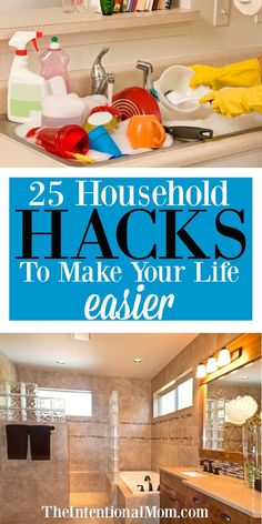 25 Household Hacks to Make Your Life Easier! 25 Household Hacks to Make Your Life Easier!,DIY So much to do, so little time. Save time & save stress with these household hacks so you. Deep Cleaning Tips, House Cleaning Tips, Diy Cleaning Products, Cleaning Solutions, Spring Cleaning, Cleaning Hacks, Diy Hacks, Cleaning Schedules, Cleaning Routines