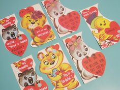 I loved these when I was a kid. Much better than today's valentines. It was fun to pop them out.