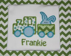Boys Easter Tshirt Easter Train Tshirt  Easter by BudsnBranches, $22.00