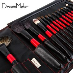 Aliexpress: Buy Top Grade Goat Animal Hair 15 pcs Professional Makeup Brushes Set Tools Eye shadow Brush with PU Leather Case Beauty Make up Kit from Reliable hair electric suppliers on Shenzhen Dreammaker Cosmetics Co. ,Ltd | Alibaba Group