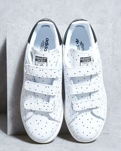 """5d6b7a532 PEOPLE Shoesdesign on Instagram  """"Adidas Originals Stan Smith CF W Dots (  white Black) now  peopleshoesdesign Avenue Louise 481"""