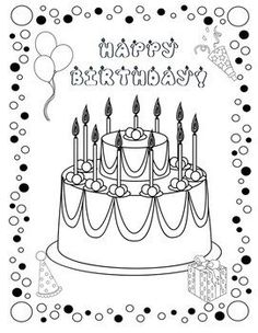 10 Amazing Happy Birthday Coloring Pages Your Toddler Will Love