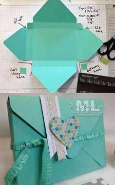 Todo lo que necesitas para scrapbooking y manualidades está en mitiendadearte.com Sobre regalo con punch board. Box Cards Tutorial, Card Tutorials, Diy Envelope Tutorial, Diy Envelope Template, Video Tutorials, Diy Tutorial, Envelope Maker, Gift Envelope, Origami Envelope