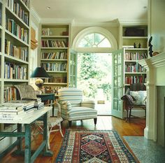 From Fragile Bird {traditional modern living room / study / library} by recent settlers, via Flickr