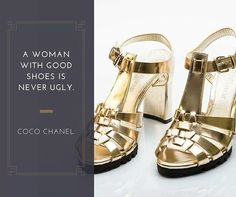 A woman with good shoes is never ugly.  Una donna con le giuste scarpe non è mai brutta. Coco Chanel  www.giorgiofabiani.it  #befab #giorgiofabiani #gold #fashion #shoes #glamour #glamstyle #fashiongram #style #golden #shop #fashion #style #stylish #beauty #instafashion #pretty #girly #girl #girls #shoes #heels #styles #shopping