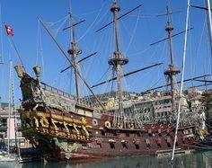 Genova, vitorlás, kalózhajó Amsterdam, Genoa, Italy Vacation, Sailing Ships, Sailing Boat, Old Town, Pirates, City, Italy Italy
