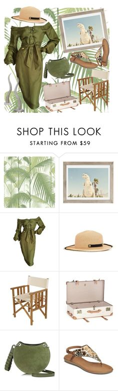 """tropical print # Jurassic park safari"" by theragirl ❤ liked on Polyvore featuring Cole & Son, Urban Outfitters, Tom Ford, Filù Hats, Barlow Tyrie, Globe-Trotter, Emilio Pucci, Aerosoles, tropicalprints and hottropics"