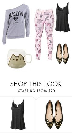"""""""Untitled #284"""" by grateful-angel ❤ liked on Polyvore featuring Pusheen, LE3NO and Kate Spade"""