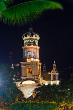 Parish Church of Our Lady of Guadalupe Puerto Vallarta. A very beautiful church only steps off the Malecon. Puerto Vallarta, Bel Air, Wonderful Places, Beautiful Places, My Father's House, Living In Mexico, Church Of Our Lady, Cathedral Church, The Beautiful Country