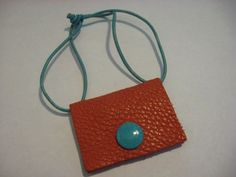 Vintage Original Burnt Orange Leather GABS Purse Hang Tag Only #Gabs