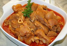 Hungarian Cuisine, Hungarian Recipes, Pork Recipes, Cooking Recipes, Bean Stew, Goulash, Pot Roast, Curry, Food And Drink