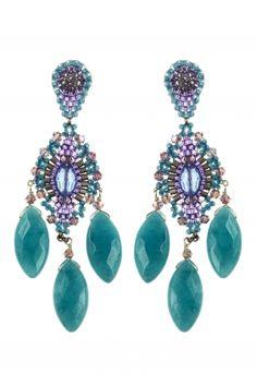 sterling silber ohrringe chandelier pastell blau und lila
