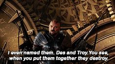 I love Karl Urban and I fangirled very much during this part.