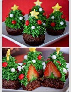 Christmas tree cupcakes. My mom has to make these