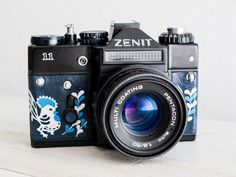 Zenit 11 + Lens of choice! functional vintage 35 mm film soviet analog SLR camera for lomography, Lens cap, Genuine leather, New lightseals!