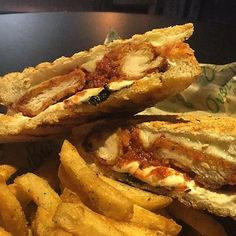 Nothing says comfort food like a Chicken Parmesan Panini! Come warm up with a sammie hot off the panini press! #seeyousoon! #lunchtime#nomnom#southsidepgh#carsonstreet#sogood#panini#lunchtime#sandwich#eatpgh#comfortfood