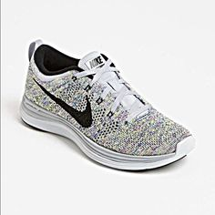 Nike fly knit Lunar Is a size 9 but these run small so they fit a size 8 and 8.5. I'm a 7.5 -8 and they fit slightly loose. Nike Shoes