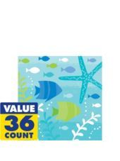"Cool Sea Beverage Napkins 36ct - Party City - BOUGHT ONE (1) PACK of 36 beverage napkins in ""Cool Sea"" design"