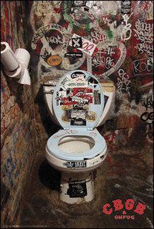 CBGB's infamous bathroom, NYC I PEED IN THAT BATHROOM YUCK
