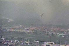 18 wheelers airborne during the April 03, 2012 tornado outbreak, Dallas-Fort Worth.