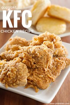 This copycat KFC chicken recipe is one of the best recipes I have found! This copycat KFC chicken recipe is one of the best recipes I have found! Homemade Fried Chicken, Crispy Oven Fried Chicken, Fried Chicken Recipes, Kentucky Fried Chicken Recipe Baked, Pressure Cooker Fried Chicken, Healthy Chicken, Fried Chicken Recipe No Buttermilk, Kentucky Chicken, Fried Chicken Skin
