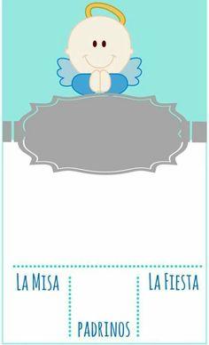 Inspirate con esta bonita invitación para la celebración de bautizo de tu niño. #bautizo #invitación
