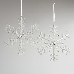 Large Beaded Snowflake Décor, Set of 2-Large Beaded Snowflake Décor, Set of 2 | World Market
